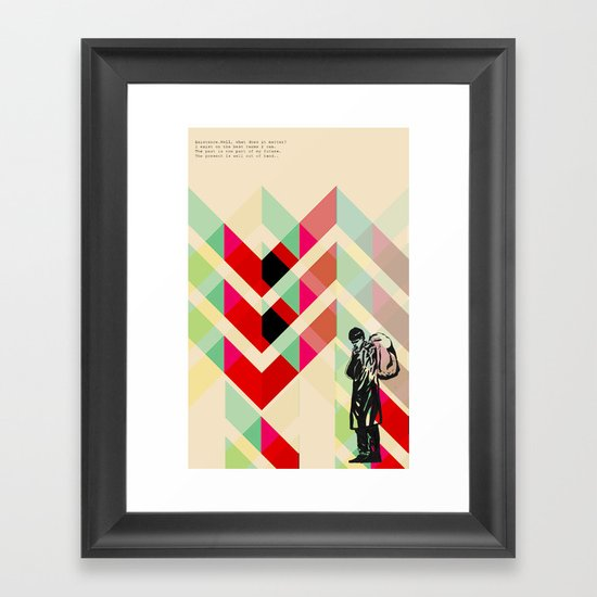 Ian Curtis from Joy division Framed Art Print