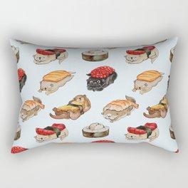 Sushi Otter Watercolor Rectangular Pillow