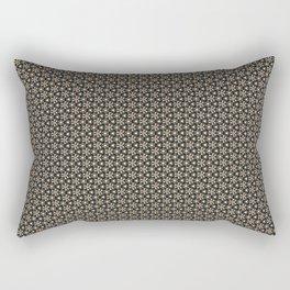 Brown Gold Elegant Pattern Rectangular Pillow
