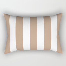 Pale taupe violet - solid color - white vertical lines pattern Rectangular Pillow