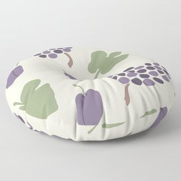 Plums and Grapes. Boho Mid Century Abstract Floor Pillow