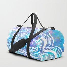 Mandala Pink Lavender Aqua Galaxy Space Duffle Bag
