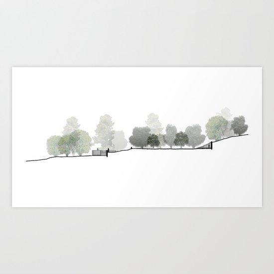Landscape Section Art Print