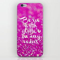 Glitter in my Veins II (Photo of Glitter) iPhone & iPod Skin