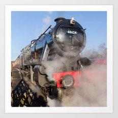 48624 Steam locomotive Art Print