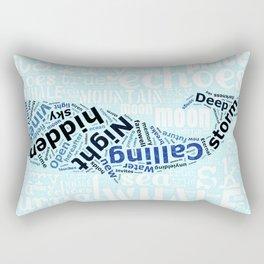 starry sea whale Rectangular Pillow