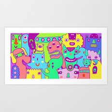 Monster Picture Art Print