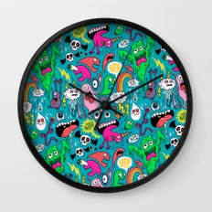 Monster Party Wall Clock
