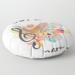 I Just Like Music It's My Favorite Floor Pillow