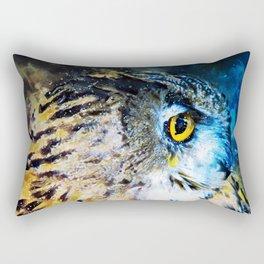 Watercolor Animals Owl Rectangular Pillow
