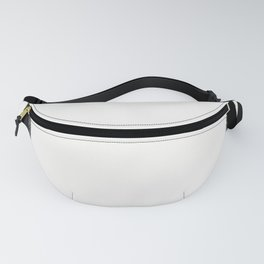 Square Strokes Black on White Fanny Pack