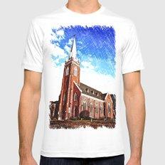 Visitation Catholic Church Mens Fitted Tee MEDIUM White