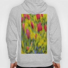 English Summer Flowers Pastel Art Hoody