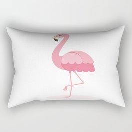 Animated Flamingo Rectangular Pillow