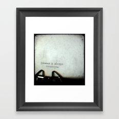 Forever and Always TTV Framed Art Print