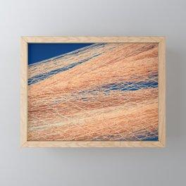 Nylon fishnet texture on the clear sky Framed Mini Art Print