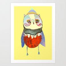 Owl Chick Art Print