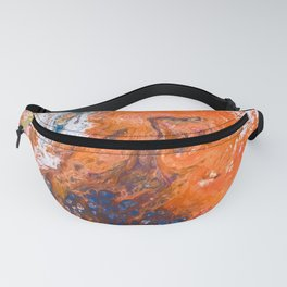 Orange Crush Acrylic Pour Painting Fanny Pack