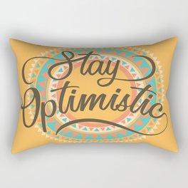Stay Optimistic Positive Thinking Gift Rectangular Pillow
