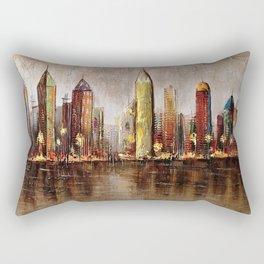 Skycrapers With Water View Rectangular Pillow