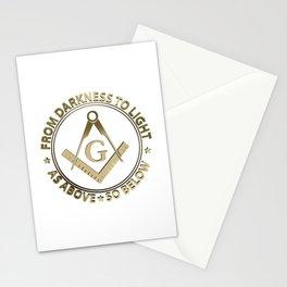 Freemasonry emblem Stationery Cards