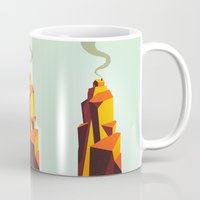 house Mugs featuring House by Dorian Danielsen