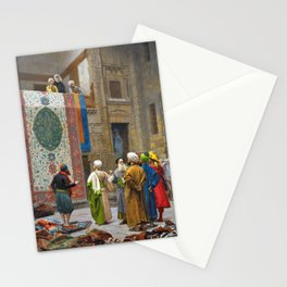 Jean-Leon Gerome - The Carpet Merchant - Digital Remastered Edition Stationery Cards