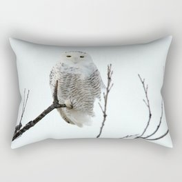 Snowy in the Wind (Snowy Owl) Rectangular Pillow