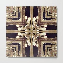 Urban Light Noir Metal Print