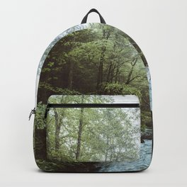 Peaceful Forest, Green Trees and Creek, Relaxing Water Sounds Backpack