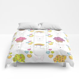 Cute rabbits Comforters