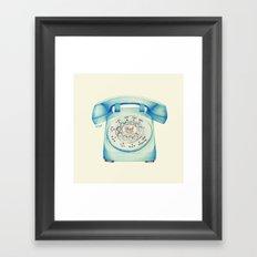 Rotary Telephone - Ballpoint Framed Art Print