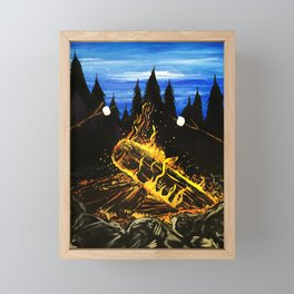 Camp Fire Framed Mini Art Print