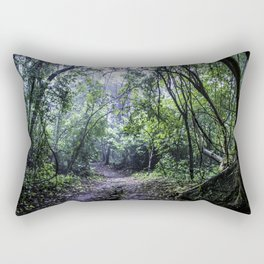 Misty Trail in the Rainforest of the Chocoyero-El Brujo Nature Reserve in Nicaragua Rectangular Pillow