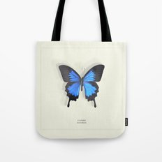 Brilliant Blue Butterfly Tote Bag
