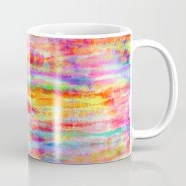Light Rainbow Tie Dye Stripes Coffee Mug