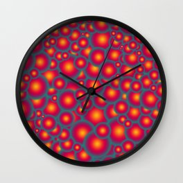 Alien eggs Wall Clock