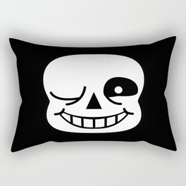 Sans Skull Wink Rectangular Pillow