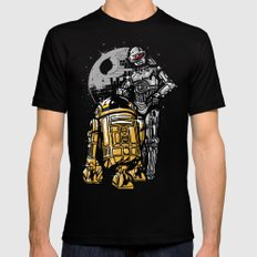 Daft Droids X-LARGE Black Mens Fitted Tee
