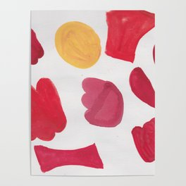 37  | 190408 Red Abstract Watercolour Poster