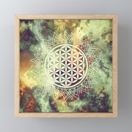 Flower Of Life (Nature's Beauty) Framed Mini Art Print