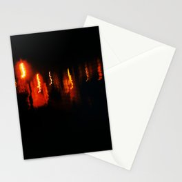 Abstract Night Photogaph of Lights Stationery Cards