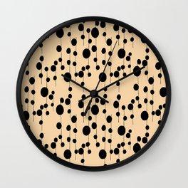 dots on a stem Wall Clock