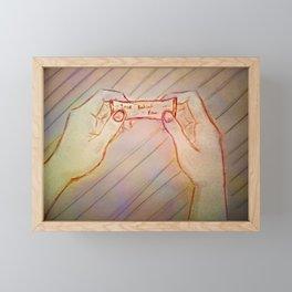 Future.Present.Tense Framed Mini Art Print