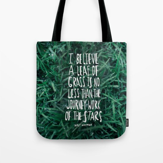 Leaf of Grass Tote Bag