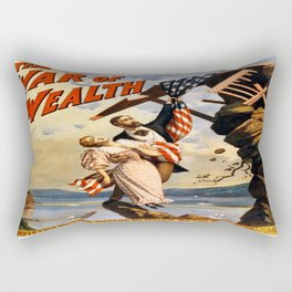 Vintage poster - The War of Wealth Rectangular Pillow