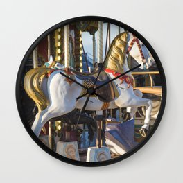 Wooden horse riding Wall Clock