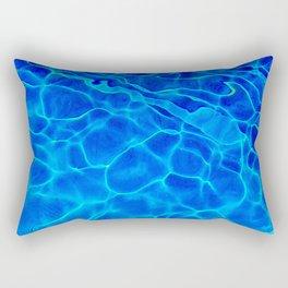 Blue Water Abstract Rectangular Pillow