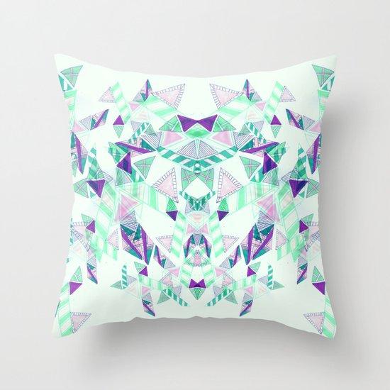 Kaleidoscopic print illustration  Throw Pillow