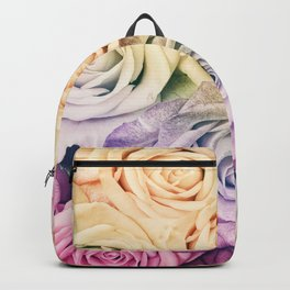 Some people grumble - Colorful Roses - Rose pattern Backpack